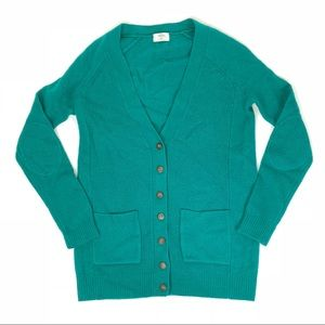 Madewell Wallace Green Button VNeck Knit Cardigan